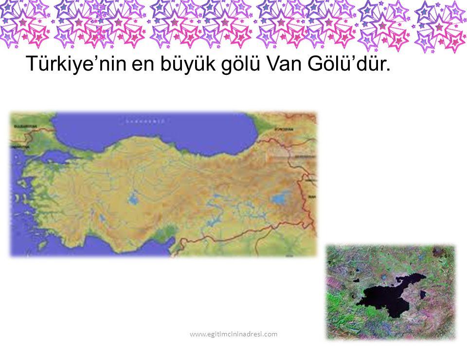 Türkiye'nin en yüksek dağı Ağrı Dağı'dır. www.egitimcininadresi.com