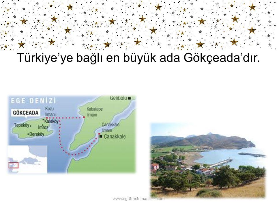 Türkiye'nin en büyük gölü Van Gölü'dür. www.egitimcininadresi.com