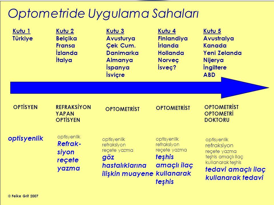 Avrupa Optometri Diploması • Avrupa Müfredatı • Her ülkenin en yüksek giriş seviyesine göre hazırlandı • Siyasi değeri var – Optometride yüksek bir standart oluşturma – Gelecekte uyumlulaştırma ihtimali • Eğitimsel değeri var – Eğitim standartlarının yükseltilmesinde teşvik – Bolonya Deklarasyonunun isterlerini karşılayabilme 7
