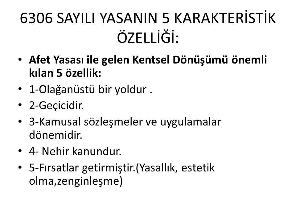 4-Fırsatlar getirmiştir.(Yasallık, estetik olma,zenginleşme) • Yasallık Fırsatı: Türkiye'de, hem şehir hem kırsalda binaların büyük kısmı kaçaktır.