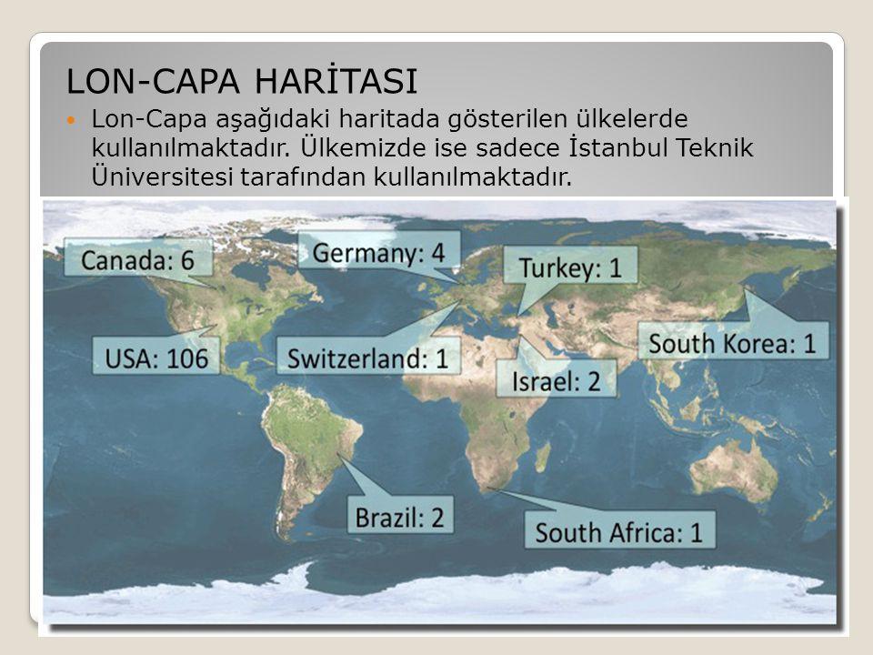 LON-CAPA HARİTASI  Lon-Capa aşağıdaki haritada gösterilen ülkelerde kullanılmaktadır. Ülkemizde ise sadece İstanbul Teknik Üniversitesi tarafından ku