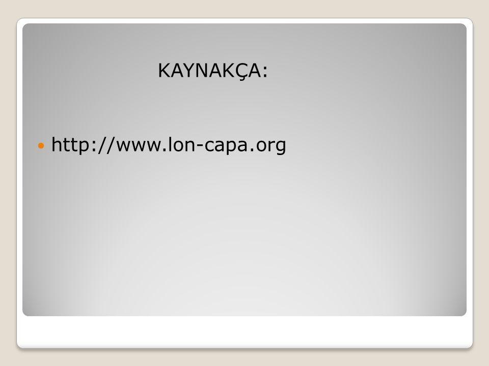 KAYNAKÇA:  http://www.lon-capa.org