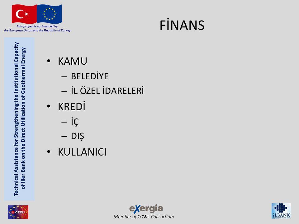 Member of Consortium This project is co-financed by the European Union and the Republic of Turkey FİNANS • KAMU – BELEDİYE – İL ÖZEL İDARELERİ • KREDİ – İÇ – DIŞ • KULLANICI