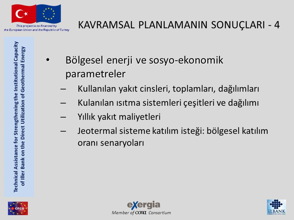 Member of Consortium This project is co-financed by the European Union and the Republic of Turkey KAVRAMSAL PLANLAMANIN SONUÇLARI - 4 • Bölgesel enerj