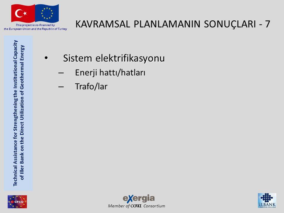 Member of Consortium This project is co-financed by the European Union and the Republic of Turkey KAVRAMSAL PLANLAMANIN SONUÇLARI - 7 • Sistem elektrifikasyonu – Enerji hattı/hatları – Trafo/lar
