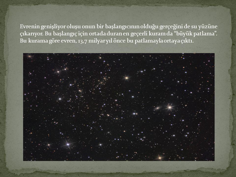 """Evrenin genişliyor oluşu onun bir başlangıcının olduğu gerçeğini de su yüzüne çıkarıyor. Bu başlangıç için ortada duran en geçerli kuram da """"büyük pat"""