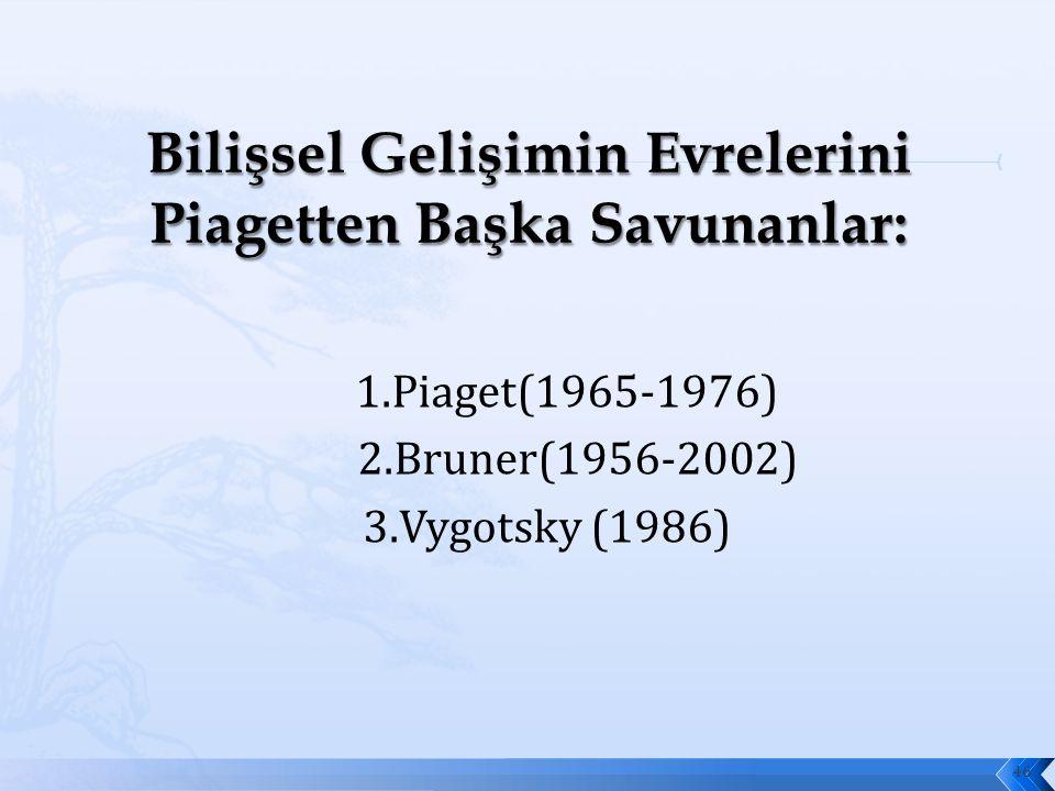 1.Piaget(1965-1976) 2.Bruner(1956-2002) 3.Vygotsky (1986) 46