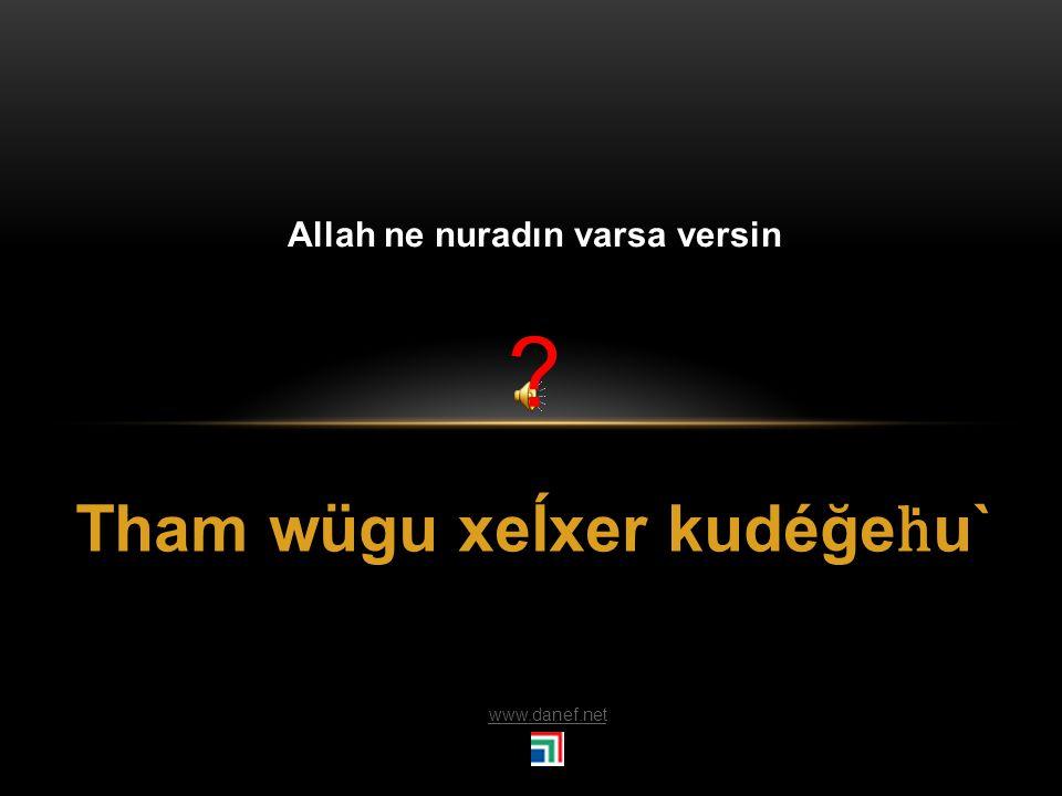 Tham wöğeotej Allah şifa versin