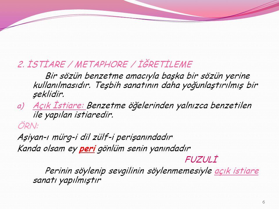 BEŞİNCİ BÖLÜM ANLAMLA İLGİLİ SANATLAR 1.
