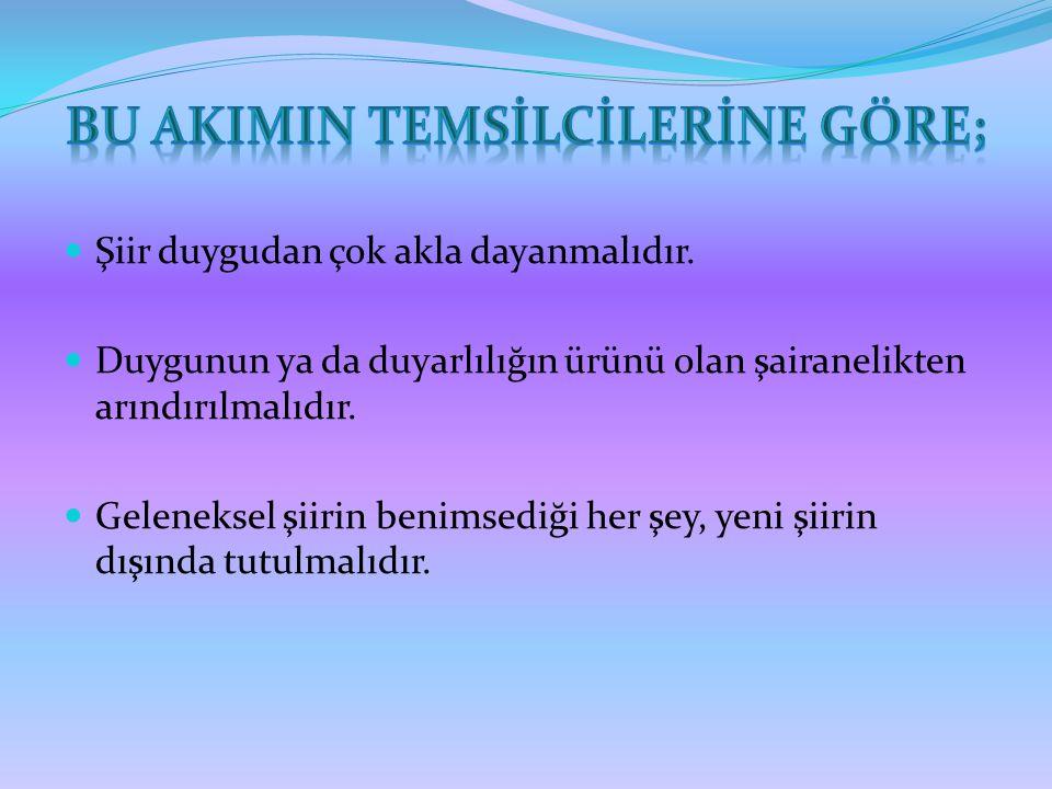İSTANBUL'U DİNLİYORUM İstanbul u dinliyorum, gözlerim kapalı Önce hafiften bir rüzgar esiyor; Yavaş yavaş sallanıyor Yapraklar, ağaçlarda; Uzaklarda, çok uzaklarda, Sucuların hiç durmayan çıngırakları İstanbul u dinliyorum, gözlerim kapalı.