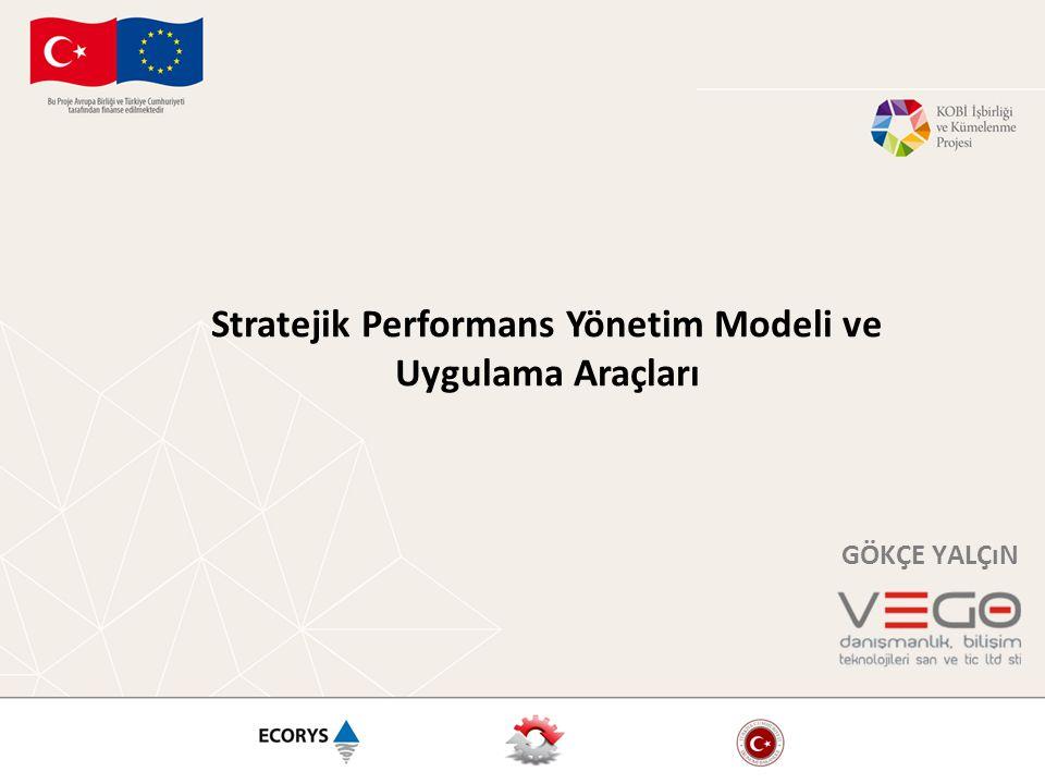 Stratejik Performans Yönetim Modeli ve Uygulama Araçları GÖKÇE YALÇıN