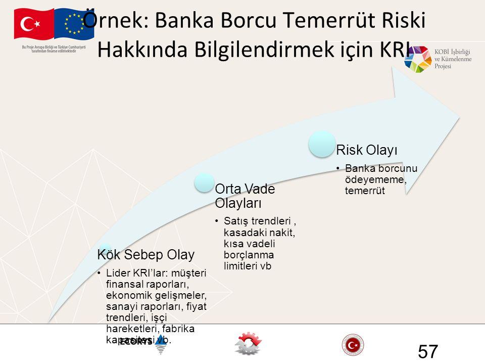 Örnek: Banka Borcu Temerrüt Riski Hakkında Bilgilendirmek için KRI 57