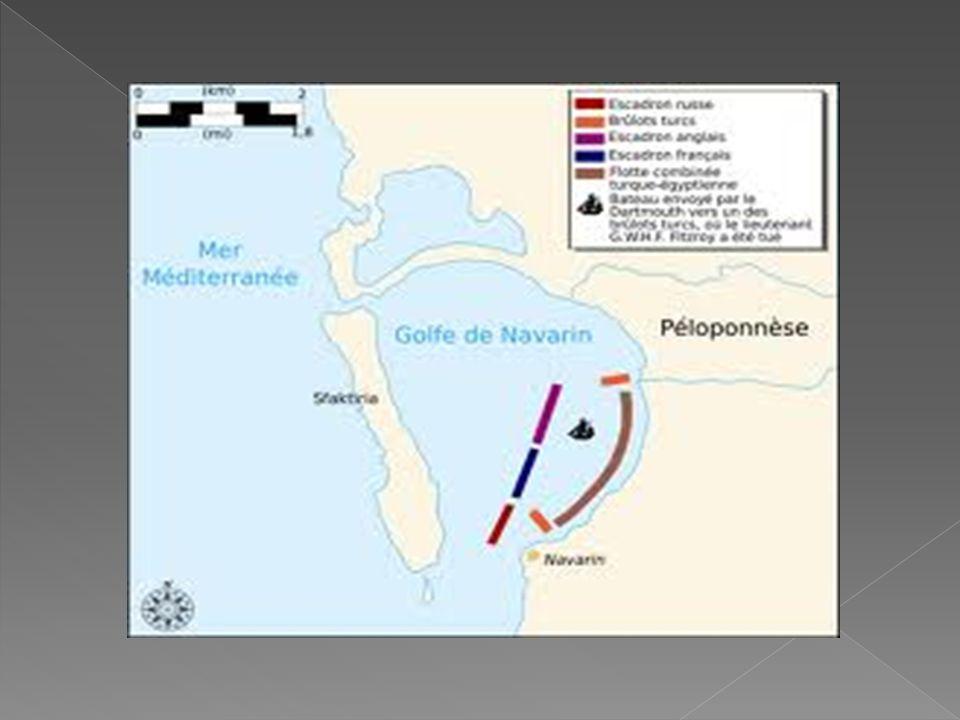  Osmanlı Devleti bunu kabul et-medi. Bunun üzerine İngiliz, Fransız,Rus ortak donanması Osmanlı donanmasına saldırarak Navarin ' de yakmışlardır (182