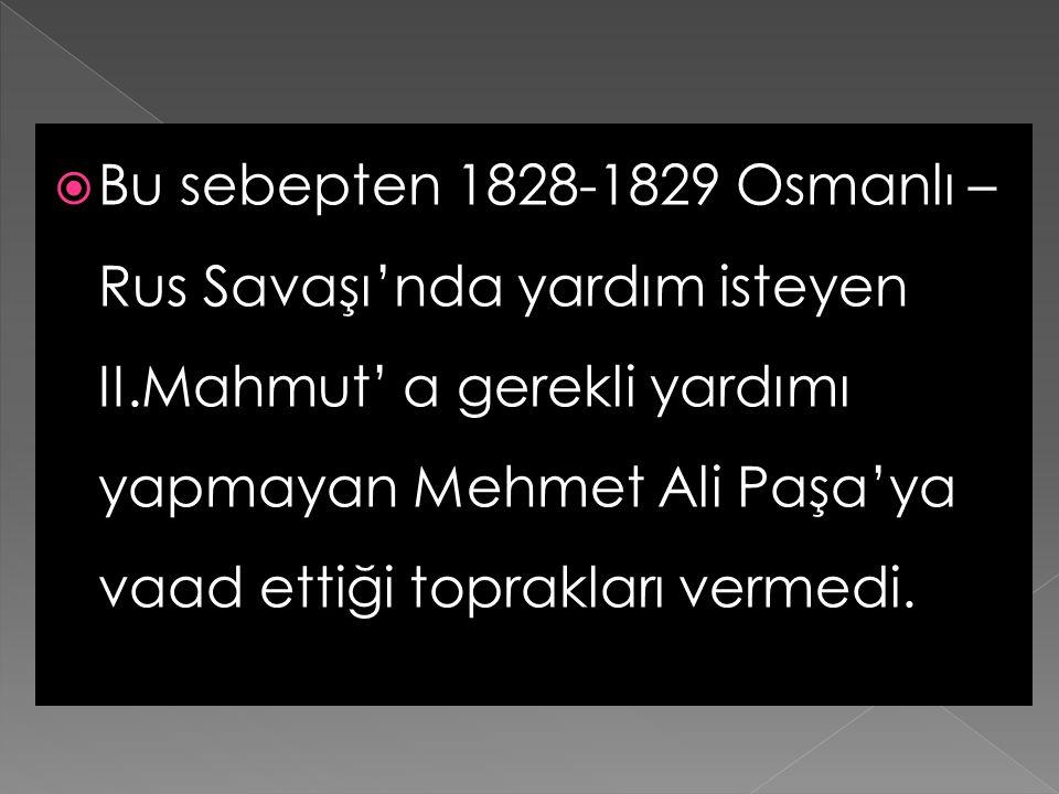  Yunan isyanı'nın bastırılmasında etkili olan Mısır Valisi Mehmet Ali Paşa, Navarin'de donanması yakıldığı için bu durumdan pek memnun olmadı.