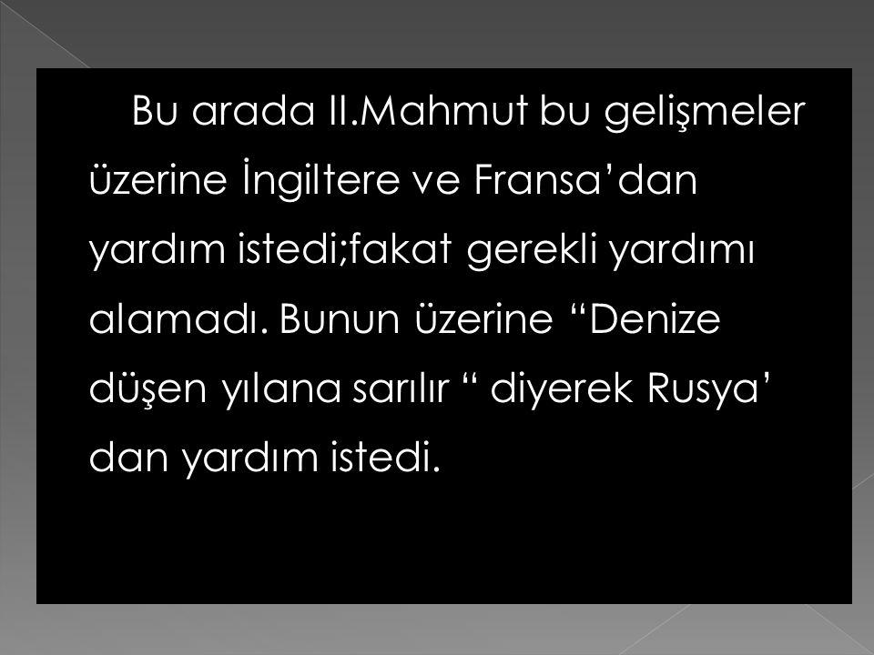  Bunun üzerine Mehmet Ali Paşa oğlu komutasındaki bir orduyu Suriye'ye gön-derdi. Oradan Anadolu'ya geçen İbrahim Paşa Osmanlı ordusunu iki defa yeni