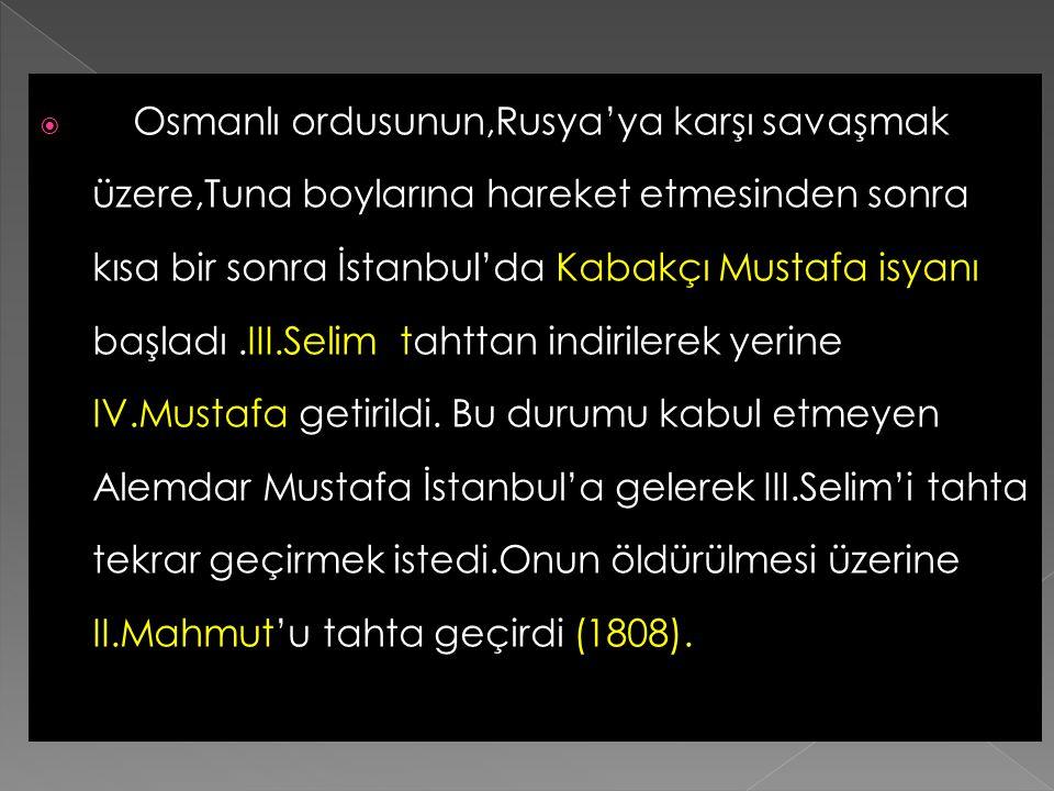  İngiltere'de Osmanlı Devleti'nden Eflak ve Boğdan beylerini görevlerine iade etmesini, Boğazların da açılmasını istedi. Osmanlı kabul etmedi.