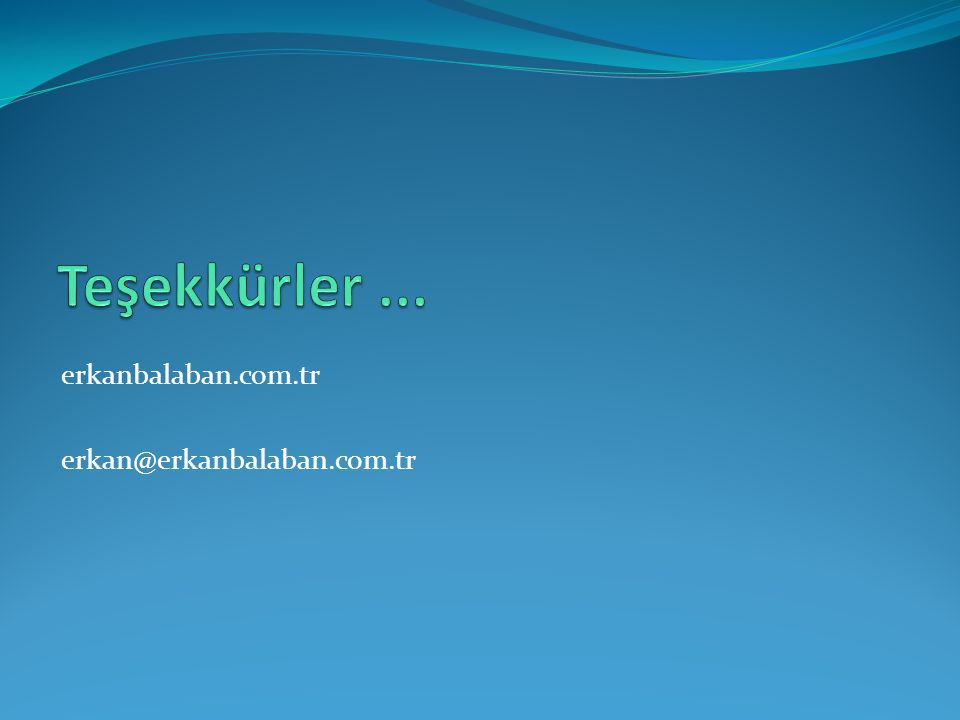 erkanbalaban.com.tr erkan@erkanbalaban.com.tr