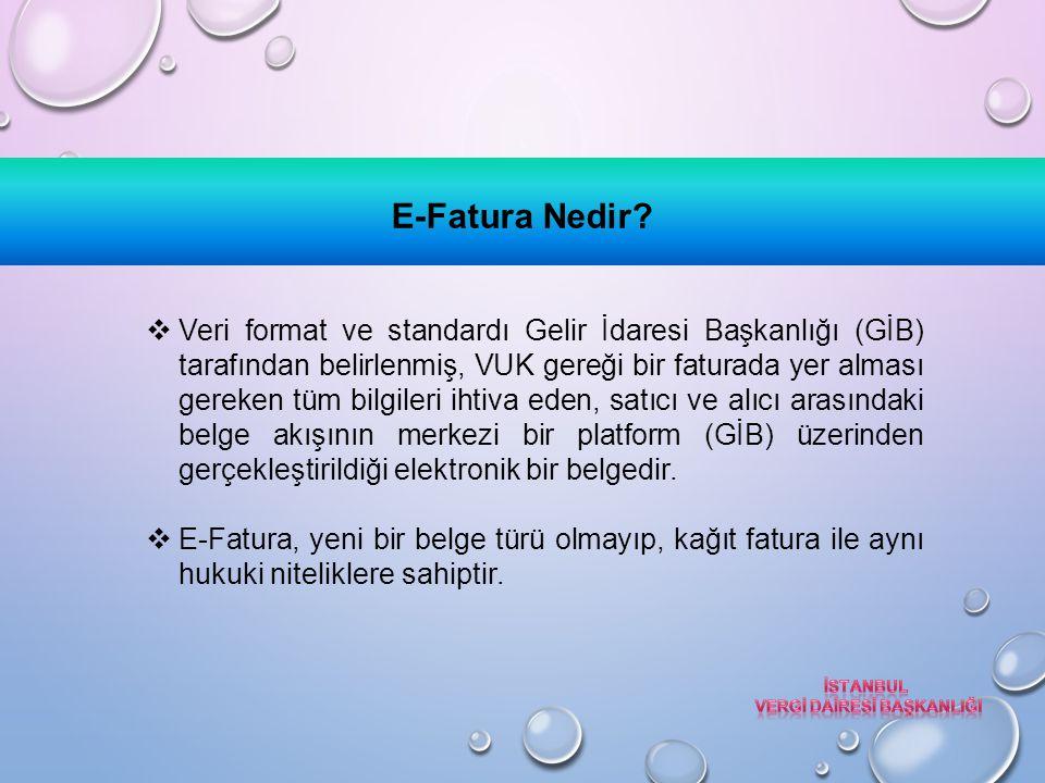 E-DEFTER TUTMA KOŞULLARI