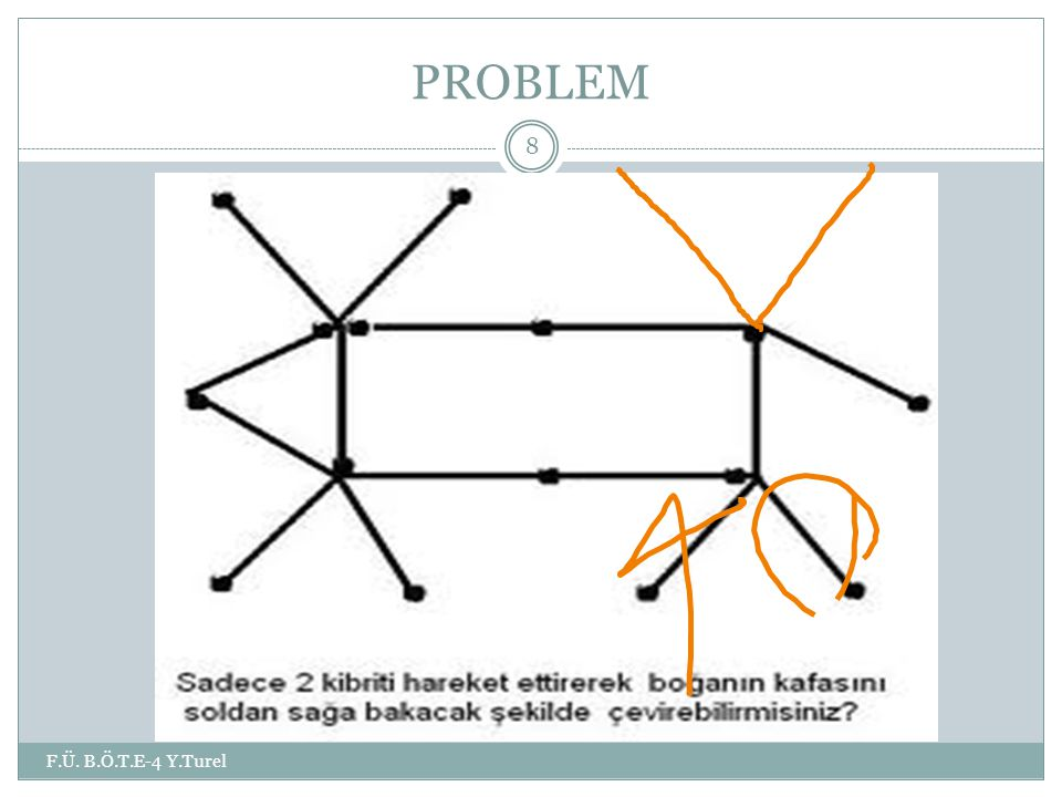 PROBLEM F.Ü. B.Ö.T.E-4 Y.Turel 8