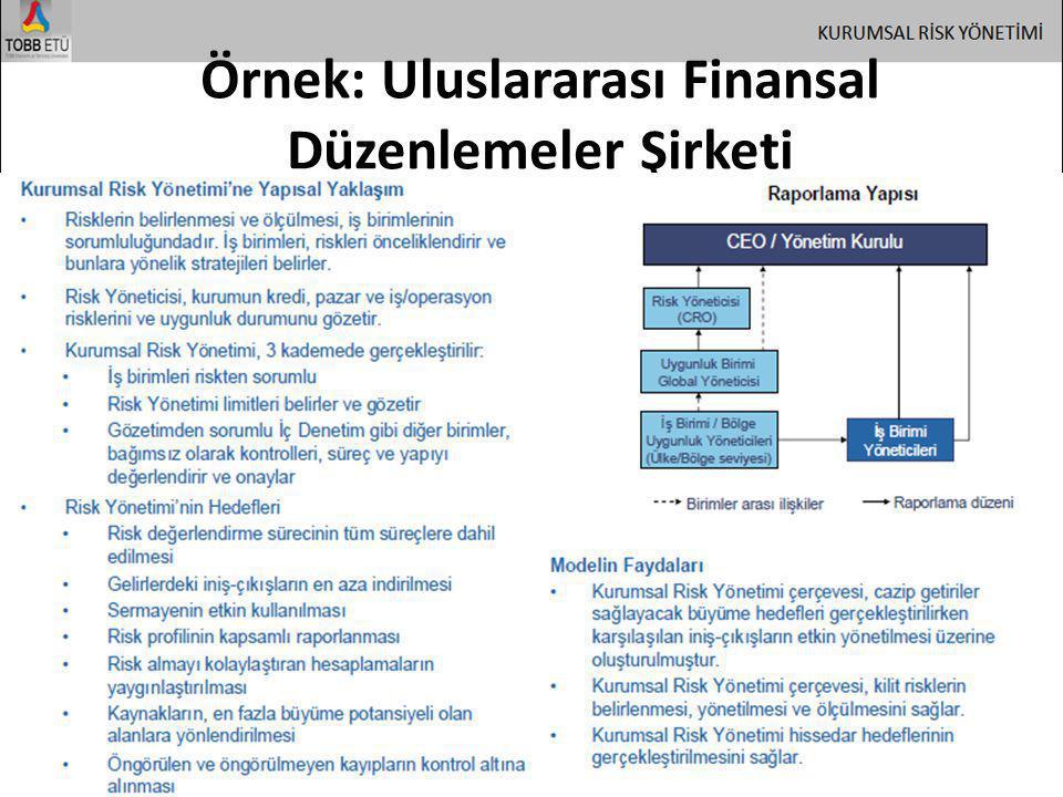 Örnek: Uluslararası Finansal Düzenlemeler Şirketi