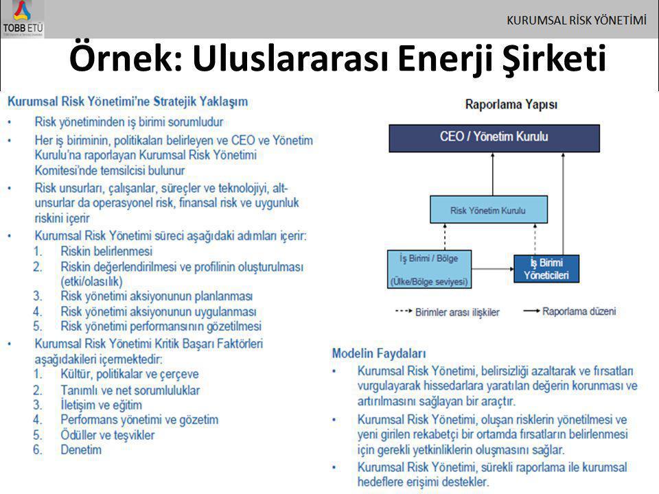 Örnek: Uluslararası Enerji Şirketi