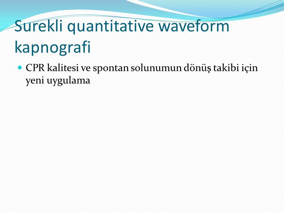 Surekli quantitative waveform kapnografi  CPR kalitesi ve spontan solunumun dönüş takibi için yeni uygulama