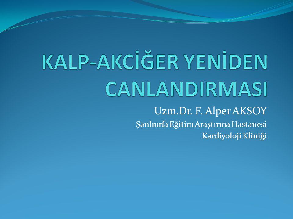 Uzm.Dr. F. Alper AKSOY Şanlıurfa Eğitim Araştırma Hastanesi Kardiyoloji Kliniği