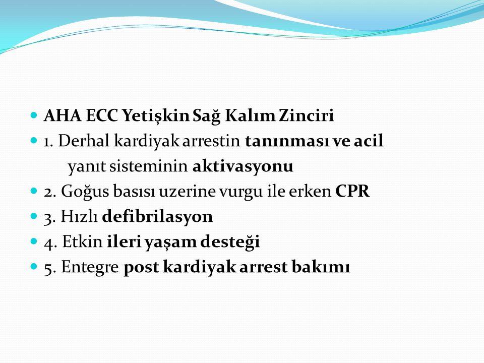  AHA ECC Yetişkin Sağ Kalım Zinciri  1.