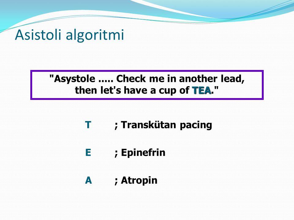 Asistoli algoritmi TEA Asystole.....