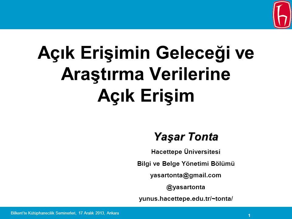 22 Bilkent'te Kütüphanecilik Seminerleri, 17 Aralık 2013, Ankara