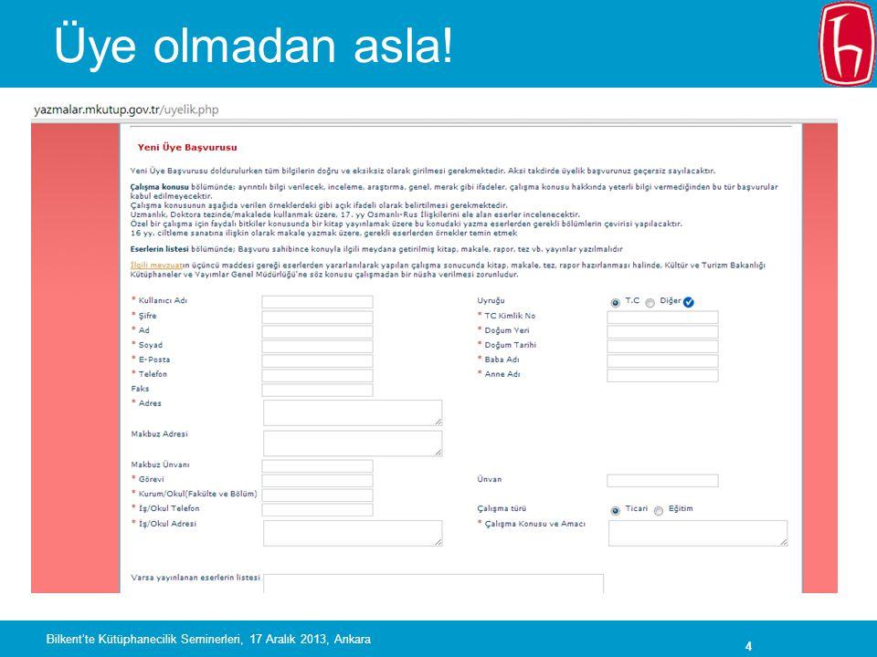 35 Açık erişim ve üniversiteler Kaynak: MedOANet anketi, 2012 Bilkent'te Kütüphanecilik Seminerleri, 17 Aralık 2013, Ankara