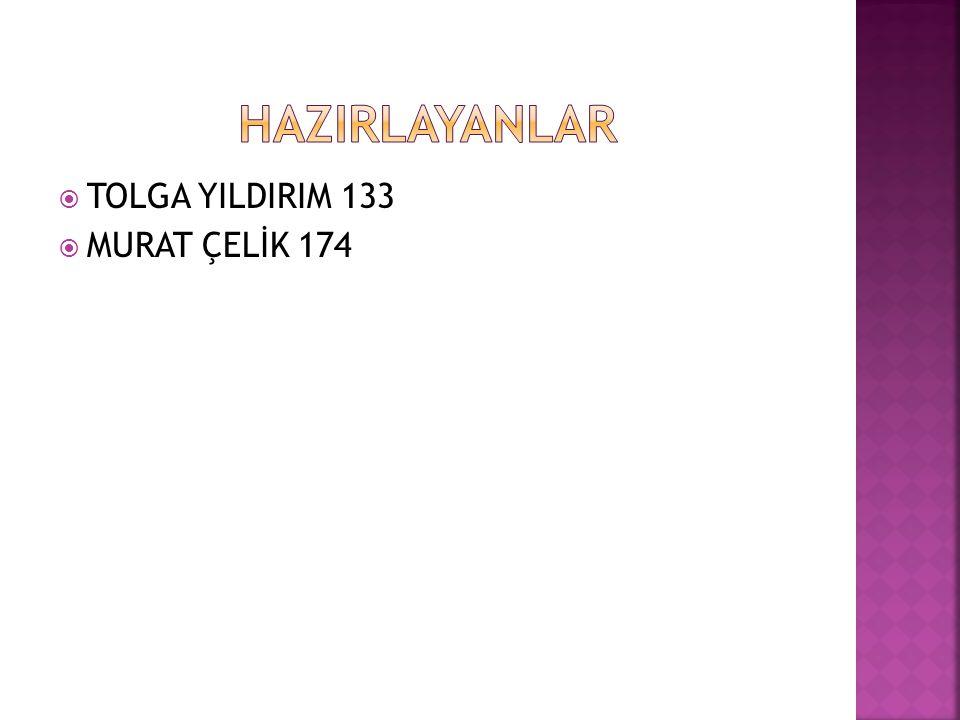  TOLGA YILDIRIM 133  MURAT ÇELİK 174
