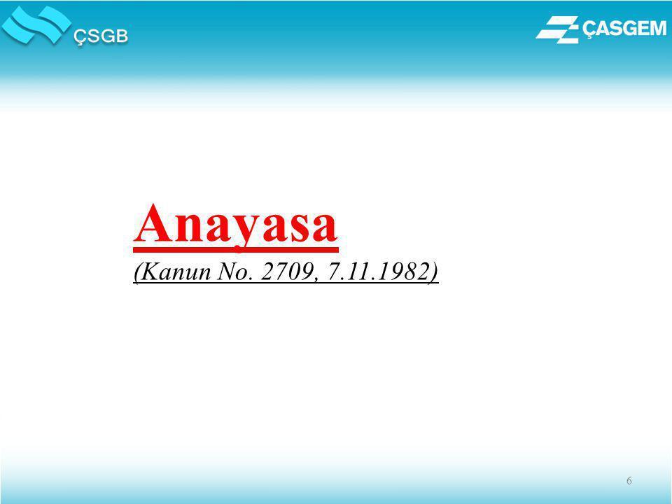 6 Anayasa (Kanun No. 2709, 7.11.1982)