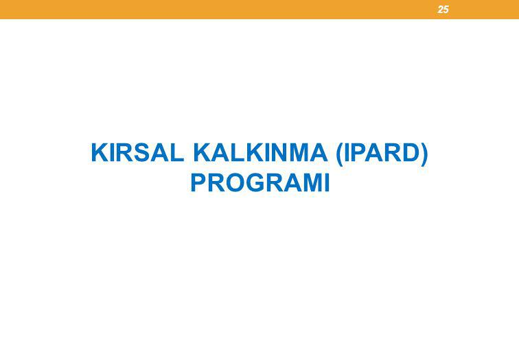 KIRSAL KALKINMA (IPARD) PROGRAMI 25