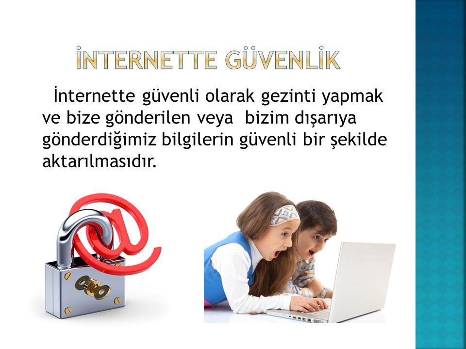 İnternette güvenli olarak gezinti yapmak ve bize gönderilen veya bizim dışarıya gönderdiğimiz bilgilerin güvenli bir şekilde aktarılmasıdır.
