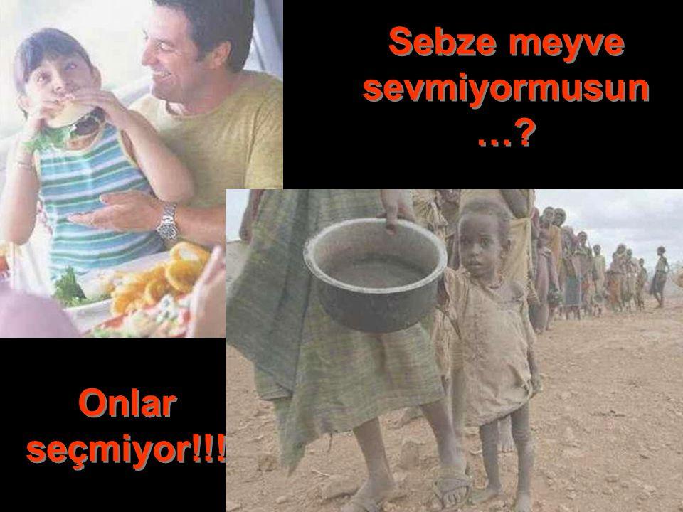 Diyetmi yapıyorsun...? Onlar açlıktan ölmekte!!!