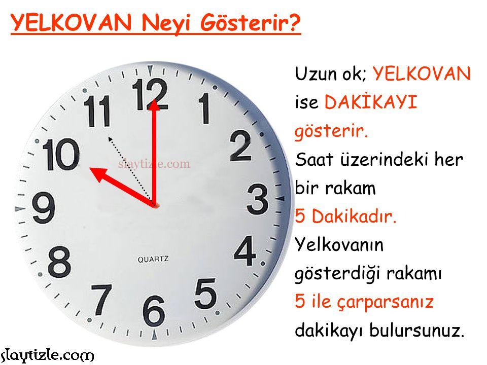 """AKREP isimli okun kısa ve kalın olduğunu söylemiştik. Bu, yaşadığımız SAATİ gösterir. Hangi rakamı gösteriyorsa """"Saat ….'dır"""" denilir. AKREP Neyi Göst"""