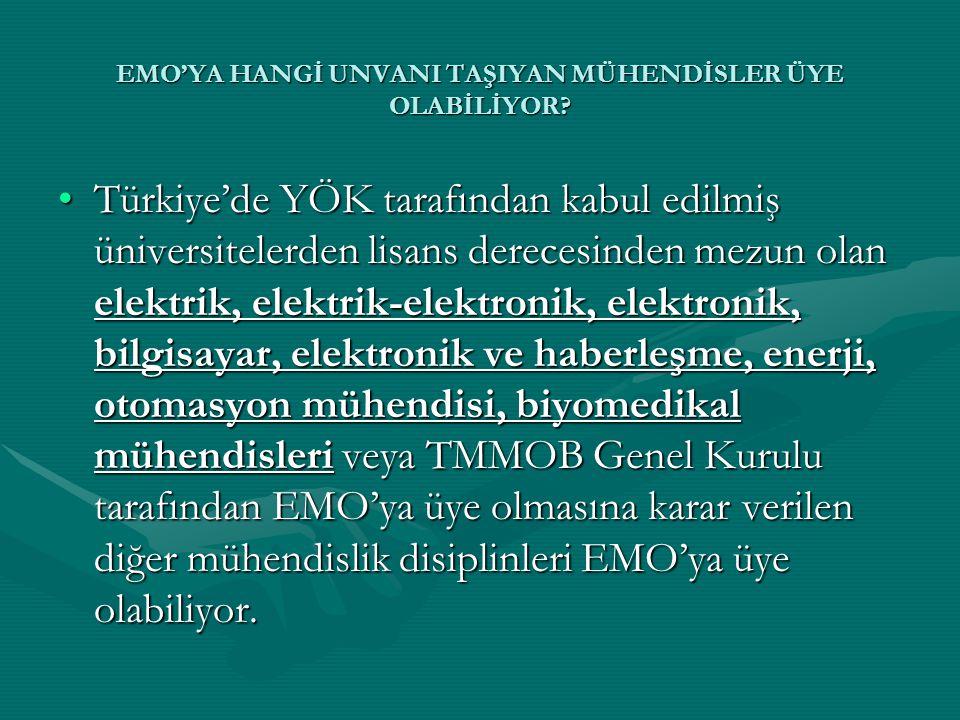 •Türkiye'de YÖK tarafından kabul edilmiş üniversitelerden lisans derecesinden mezun olan elektrik, elektrik-elektronik, elektronik, bilgisayar, elektr