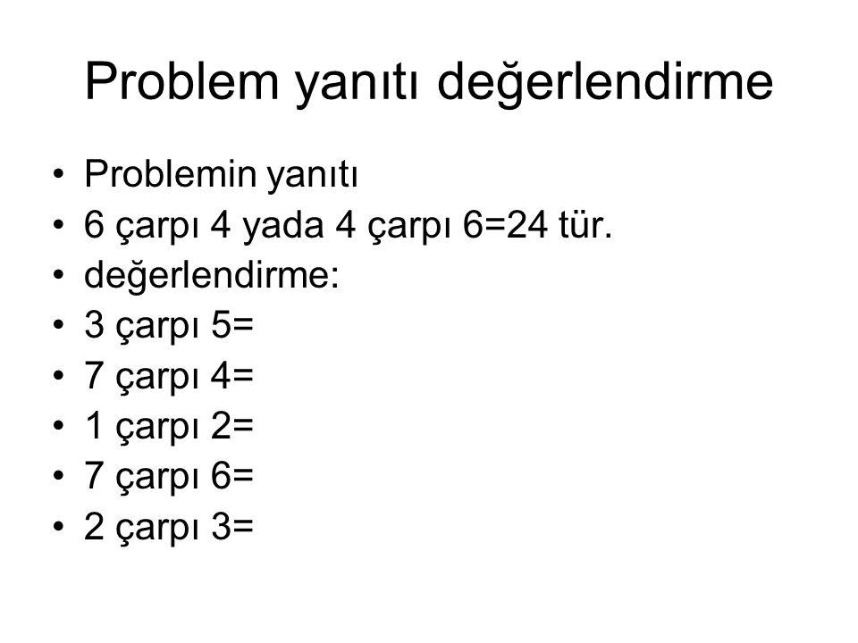 Çarpmaya devam-örnekler- problemler: •6(çarpı)3= •6şar veya 3 er sayarken 6 için:söylenen 3 üncü yada 3 için: 6ncı sayı hangisidir.
