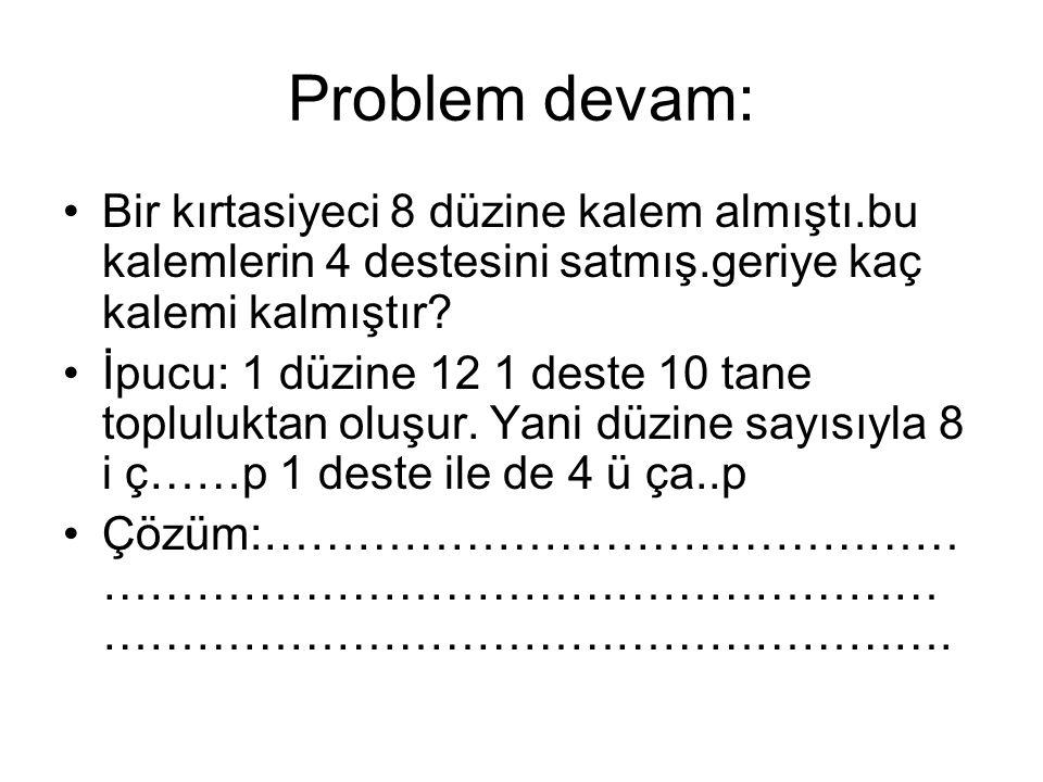 Problemler devam:-dikkat.2- 8 in 7 katı hangi sayının yarısına eşittir.