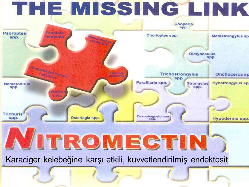Türler İvermektin'in Pozolojisi Nitroksinil'in Pozolojisi Nitromectin dozajı Sığır Koyun 0.2 mg/kg.