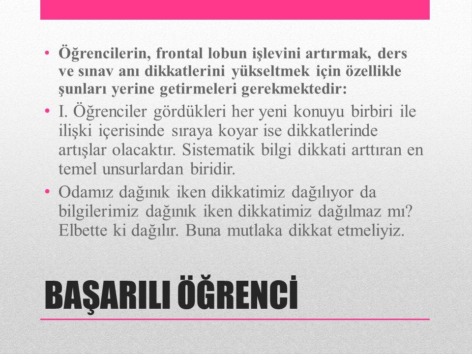 BAŞARILI ÖĞRENCİ • II.