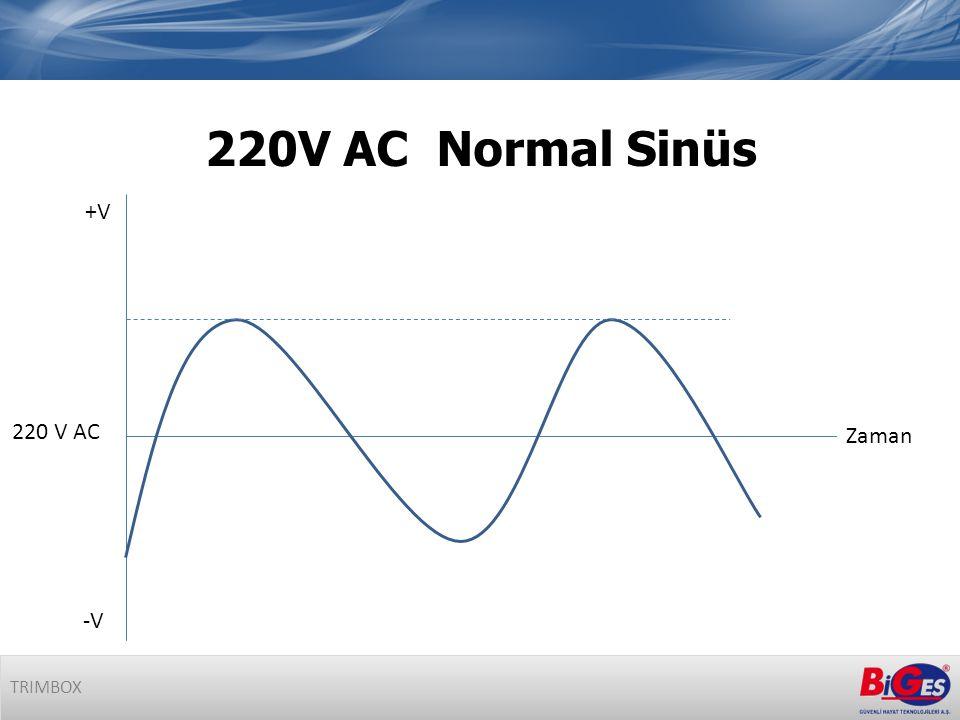 220V AC Normal Sinüs TRIMBOX Zaman +V -V 220 V AC