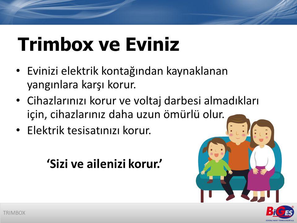 Trimbox ve Eviniz • Evinizi elektrik kontağından kaynaklanan yangınlara karşı korur.