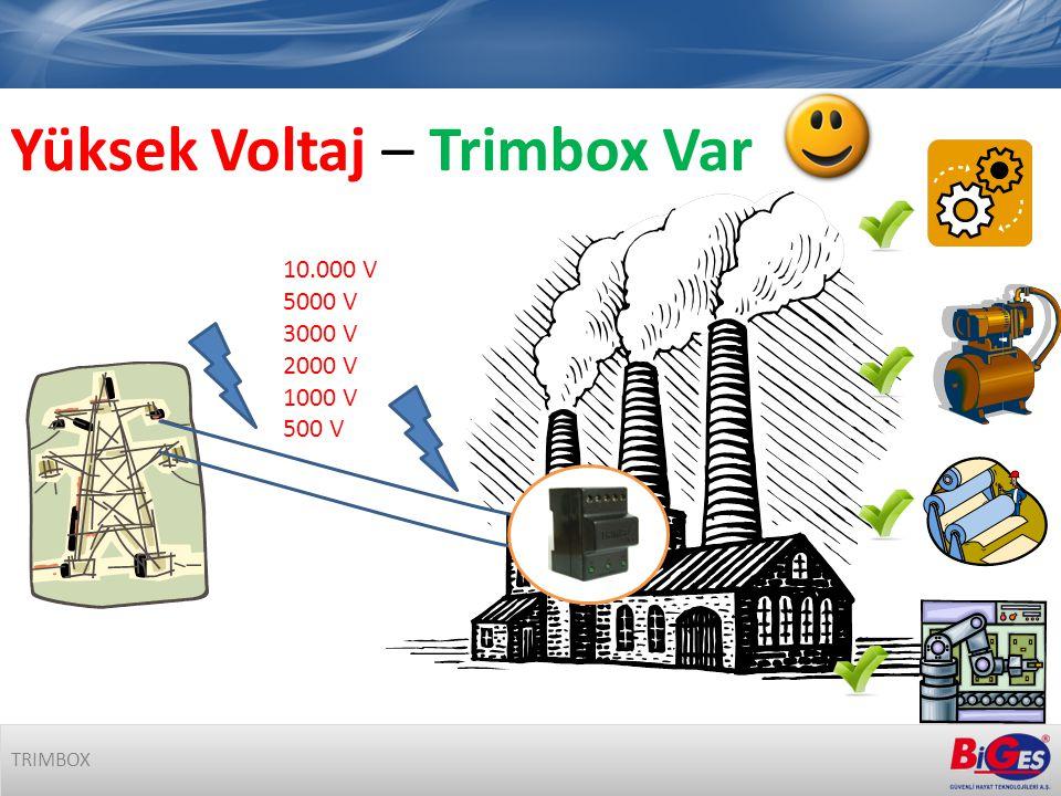 Yüksek Voltaj – Trimbox Var 10.000 V 5000 V 3000 V 2000 V 1000 V 500 V TRIMBOX