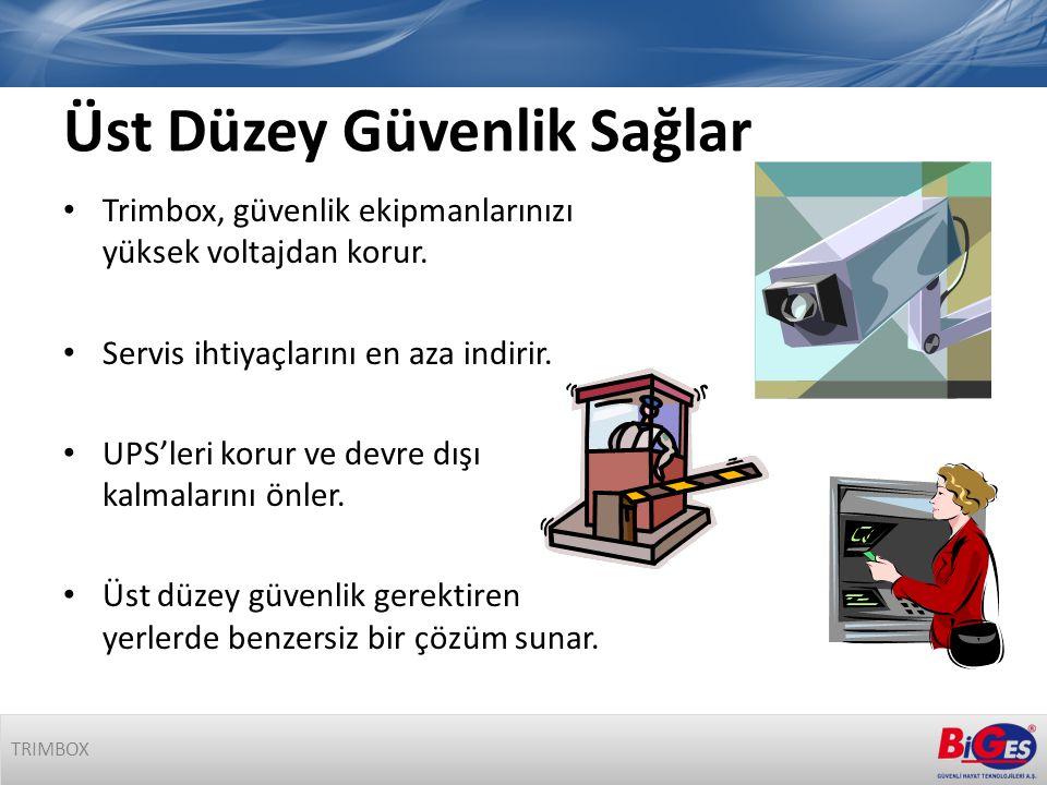 Üst Düzey Güvenlik Sağlar • Trimbox, güvenlik ekipmanlarınızı yüksek voltajdan korur.