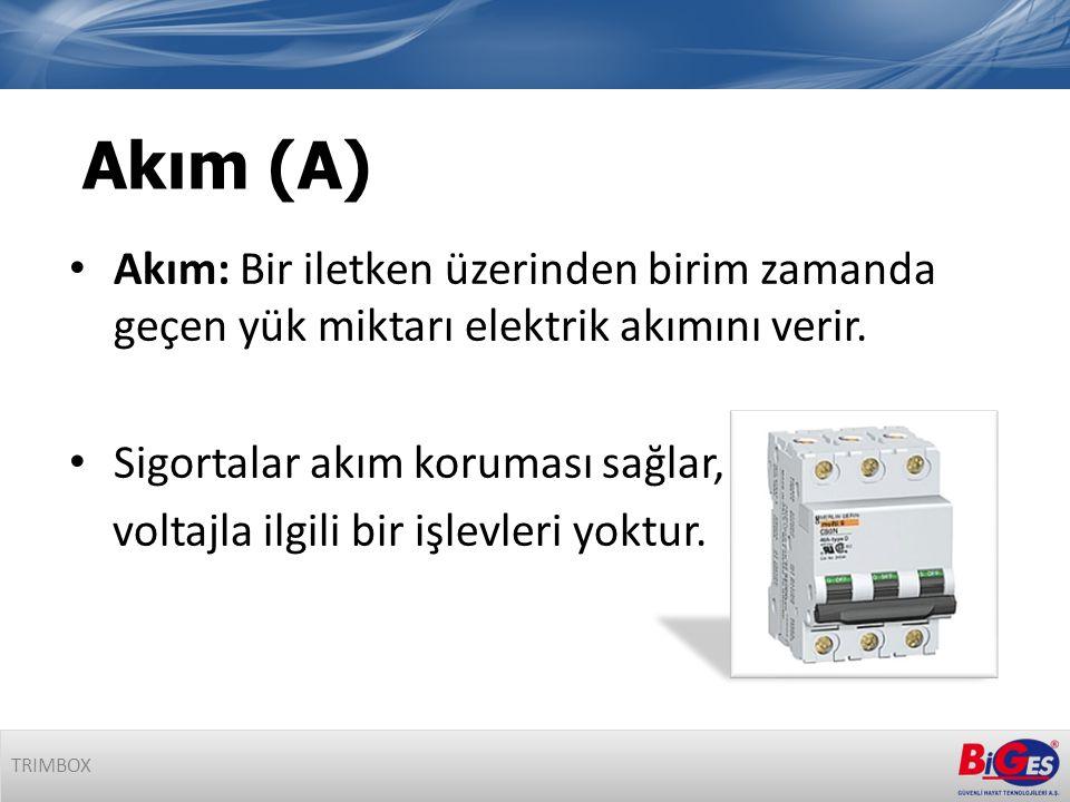 • Akım: Bir iletken üzerinden birim zamanda geçen yük miktarı elektrik akımını verir.