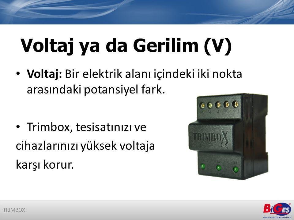 • Voltaj: Bir elektrik alanı içindeki iki nokta arasındaki potansiyel fark.