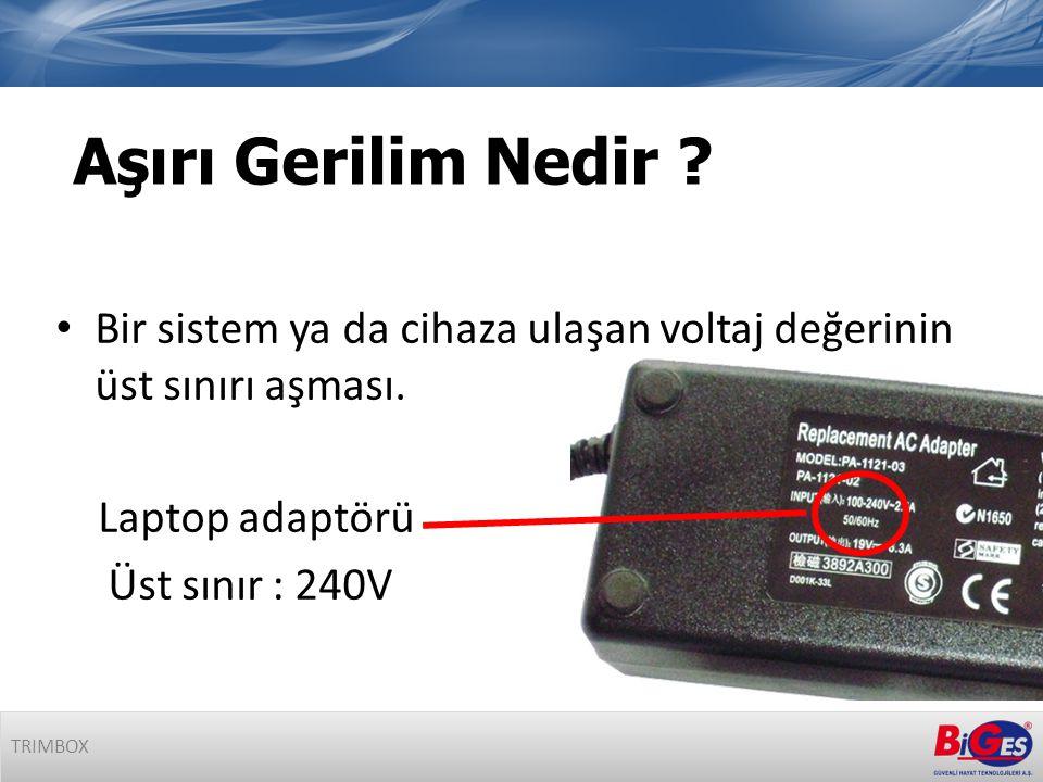 • Bir sistem ya da cihaza ulaşan voltaj değerinin üst sınırı aşması.