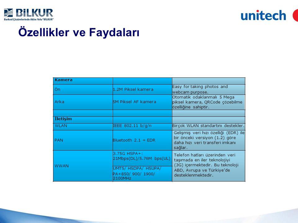 Özellikler ve Faydaları LCD Ekran Ekran Tipi 7 16:10 TFT LCD Profesyonel görüntüler için yüksek çözünürlük sağlar.